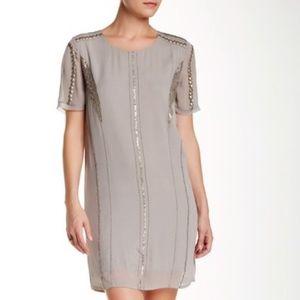 Nue 19.04 | Ravel Trim Detail Mini Silk Dress